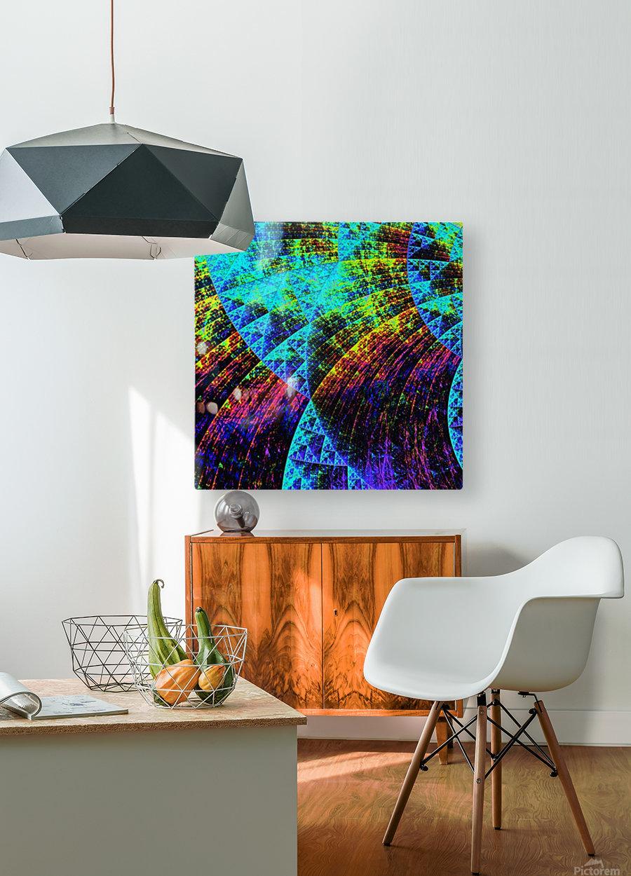 Mandala_a_la_Sierpinski  HD Metal print with Floating Frame on Back