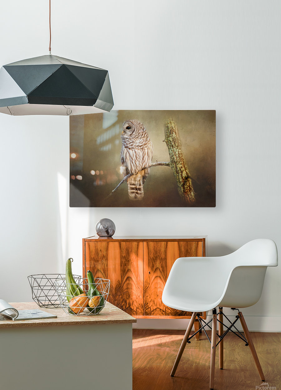 Whos There  HD Metal print with Floating Frame on Back