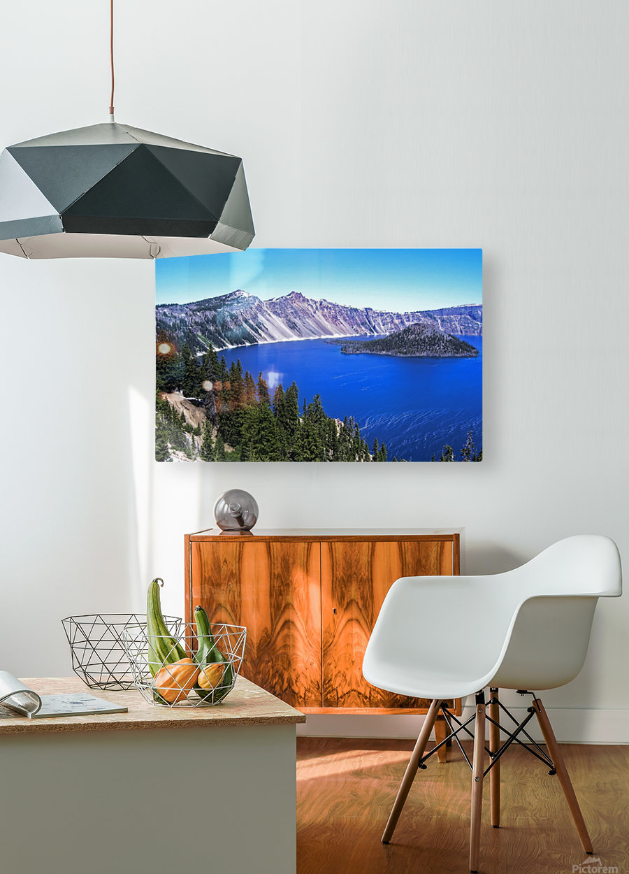Crater Lake Oregon  HD Metal print with Floating Frame on Back