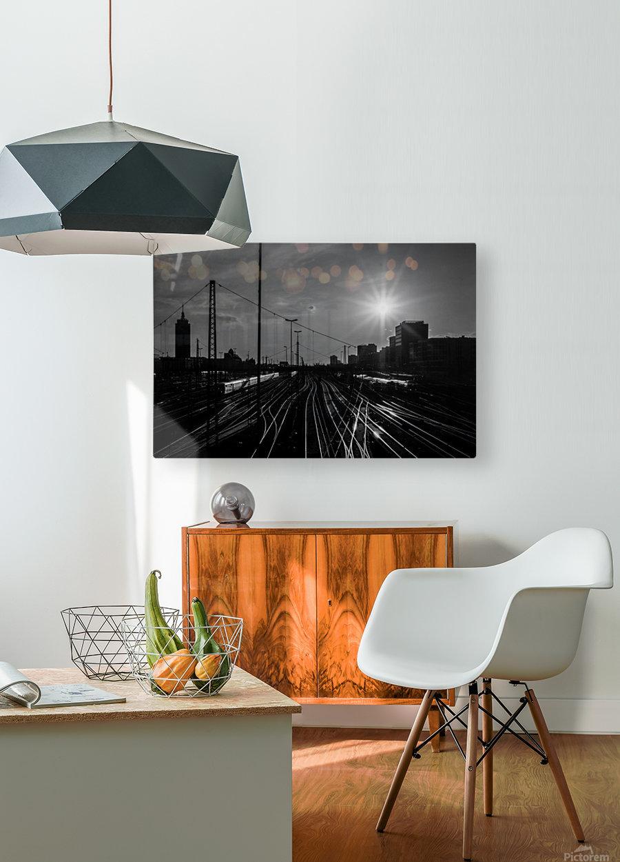 German Rails  HD Metal print with Floating Frame on Back