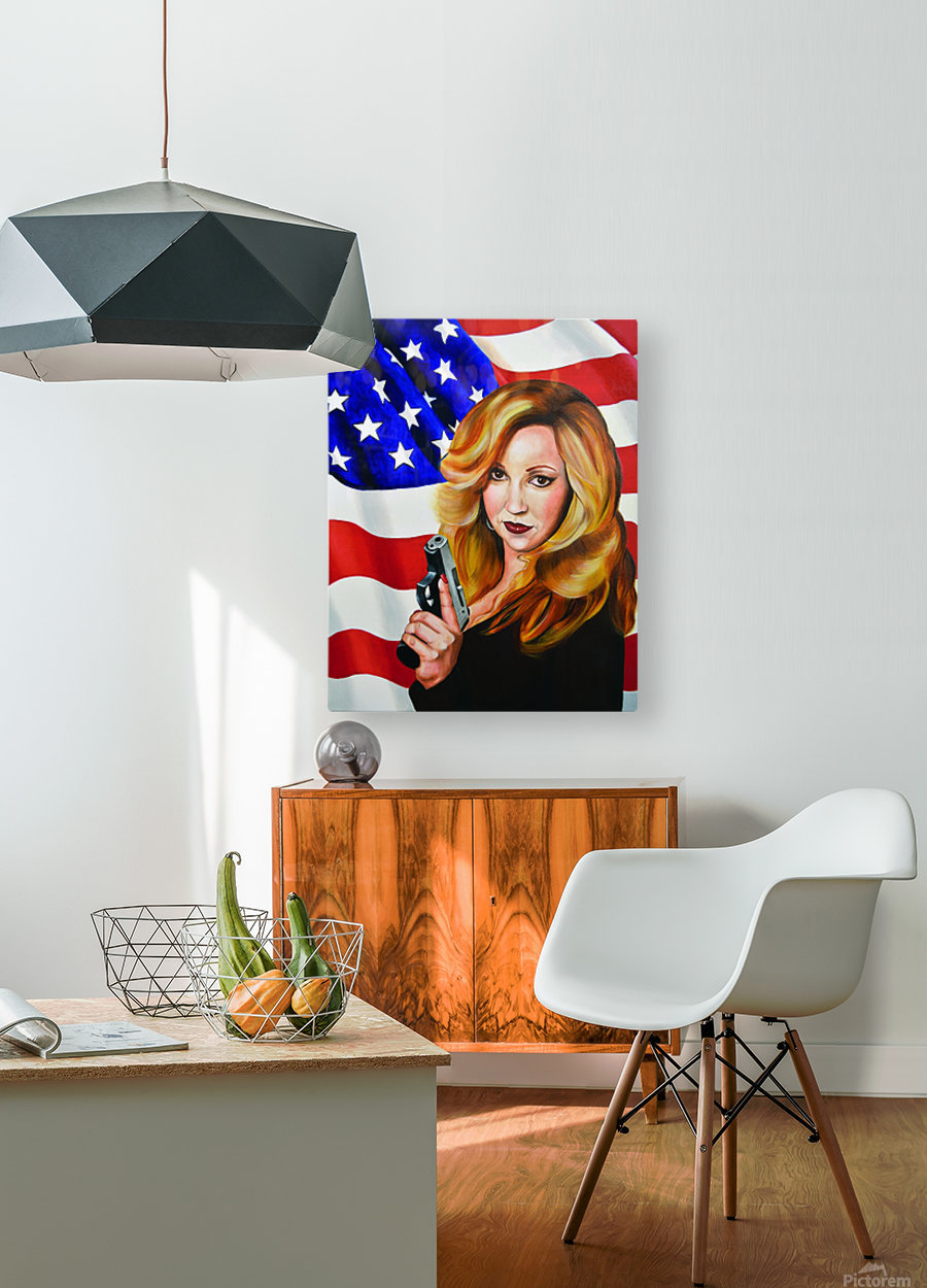 Murica  HD Metal print with Floating Frame on Back
