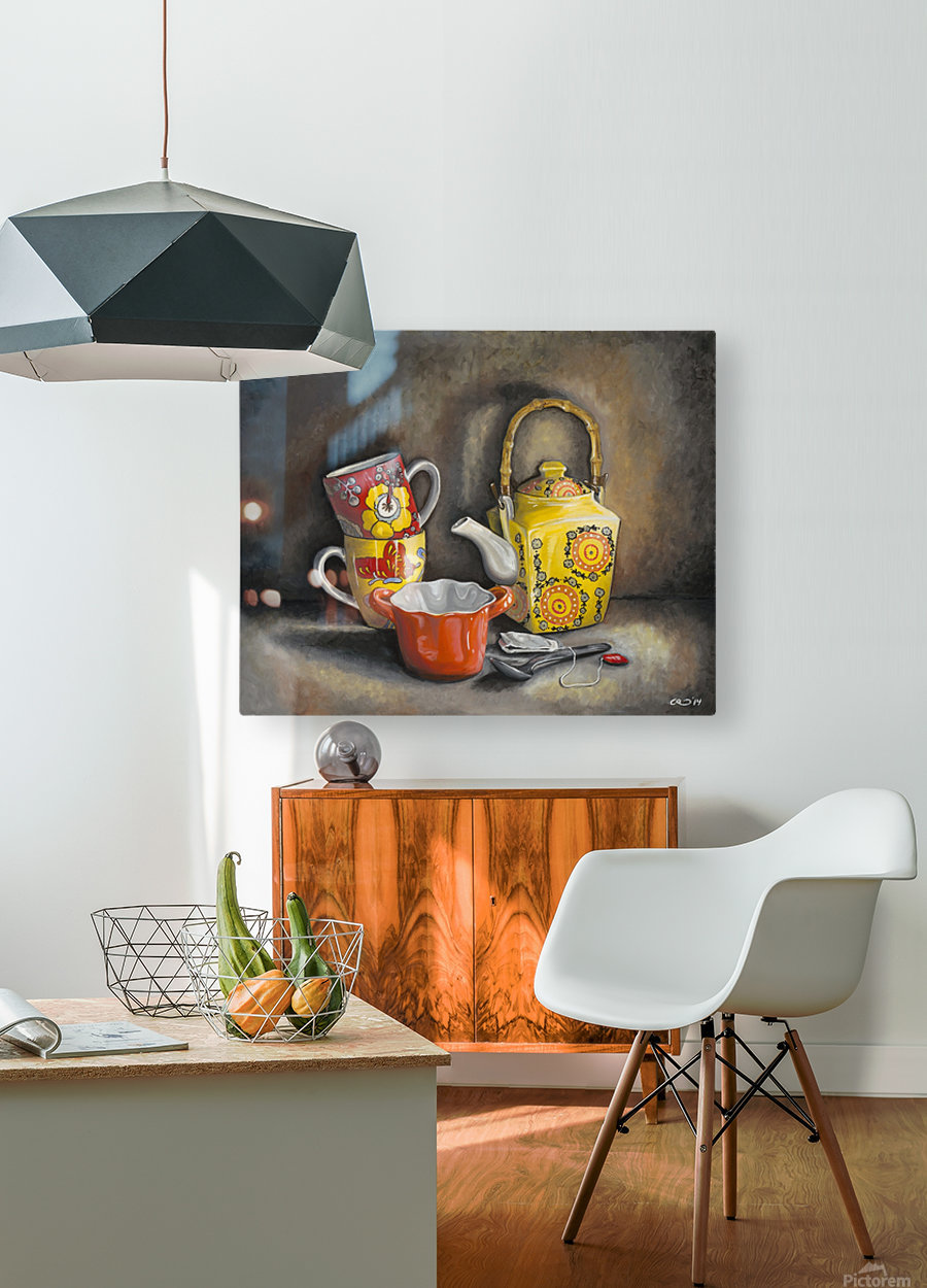 Tea Time  HD Metal print with Floating Frame on Back