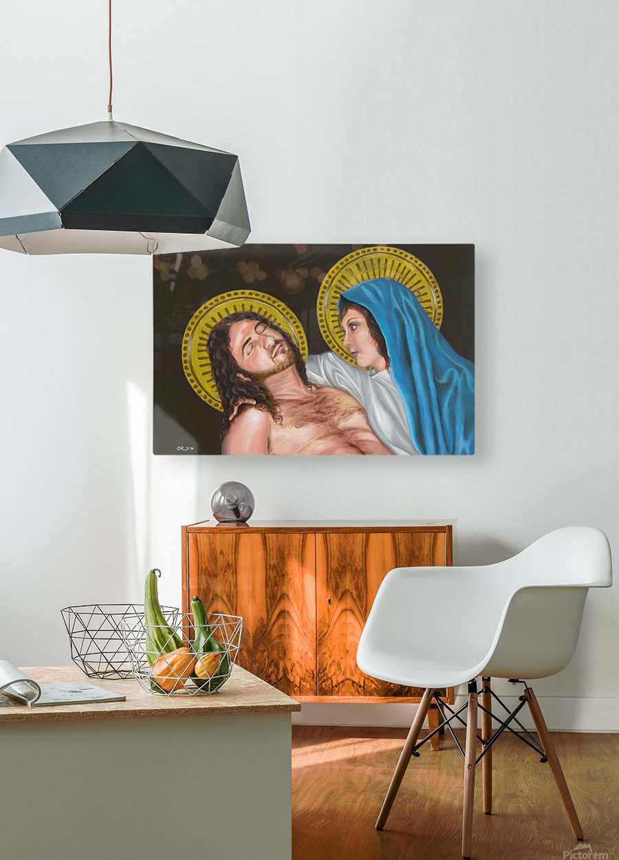 Pieta  HD Metal print with Floating Frame on Back