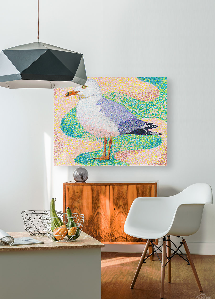 Seagull  HD Metal print with Floating Frame on Back