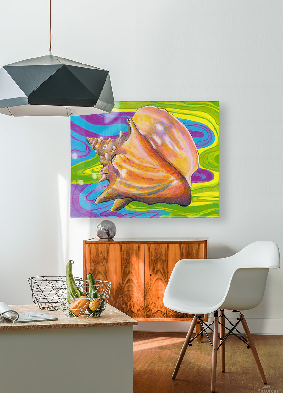 Seashell  HD Metal print with Floating Frame on Back