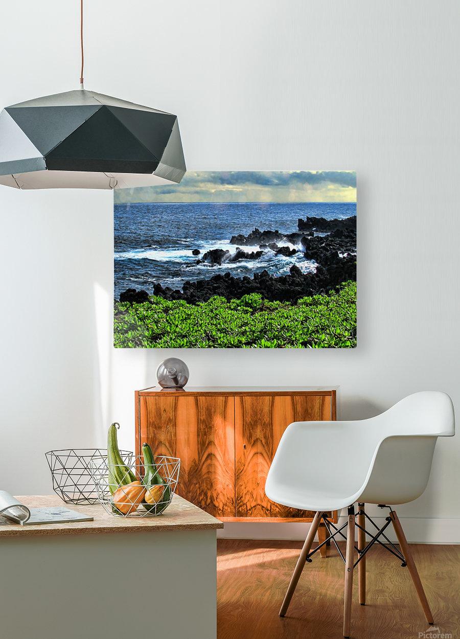 Hana Beach Hawaii  HD Metal print with Floating Frame on Back