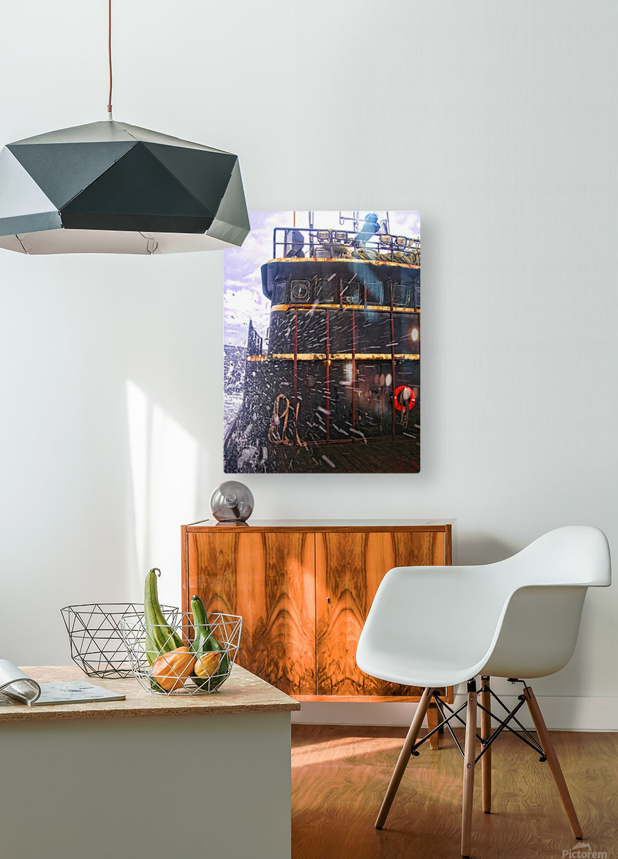 Eye of the Storm  HD Metal print with Floating Frame on Back