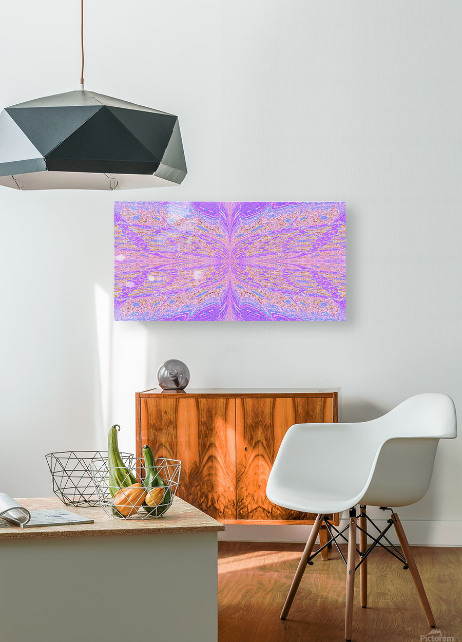 Butterfly in Pink Mist  HD Metal print with Floating Frame on Back