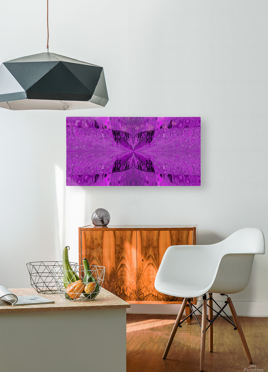 Butterfly in Crystal 19  HD Metal print with Floating Frame on Back