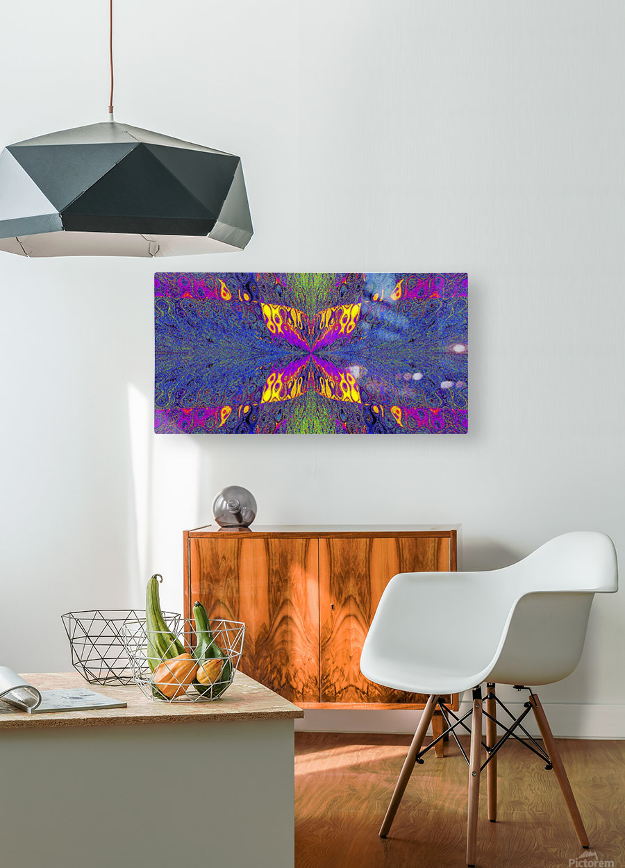 Butterfly in Crystal 23  HD Metal print with Floating Frame on Back