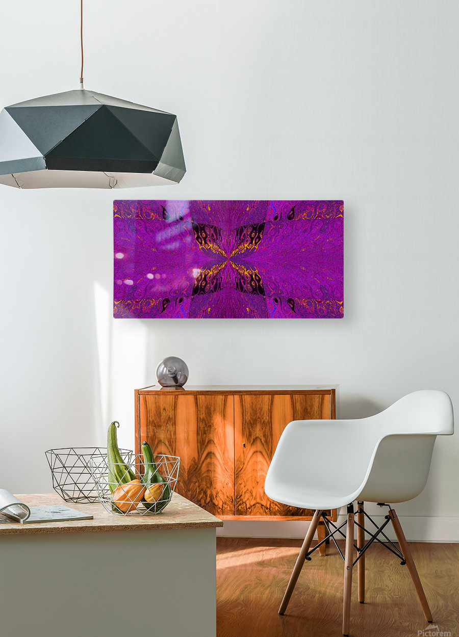 Butterfly in Crystal 37  HD Metal print with Floating Frame on Back