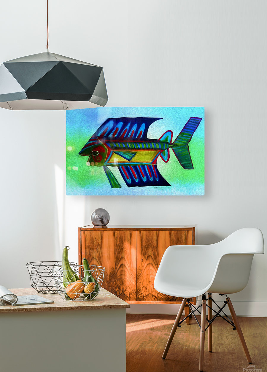 You Cant Eat a Blue Fish  HD Metal print with Floating Frame on Back
