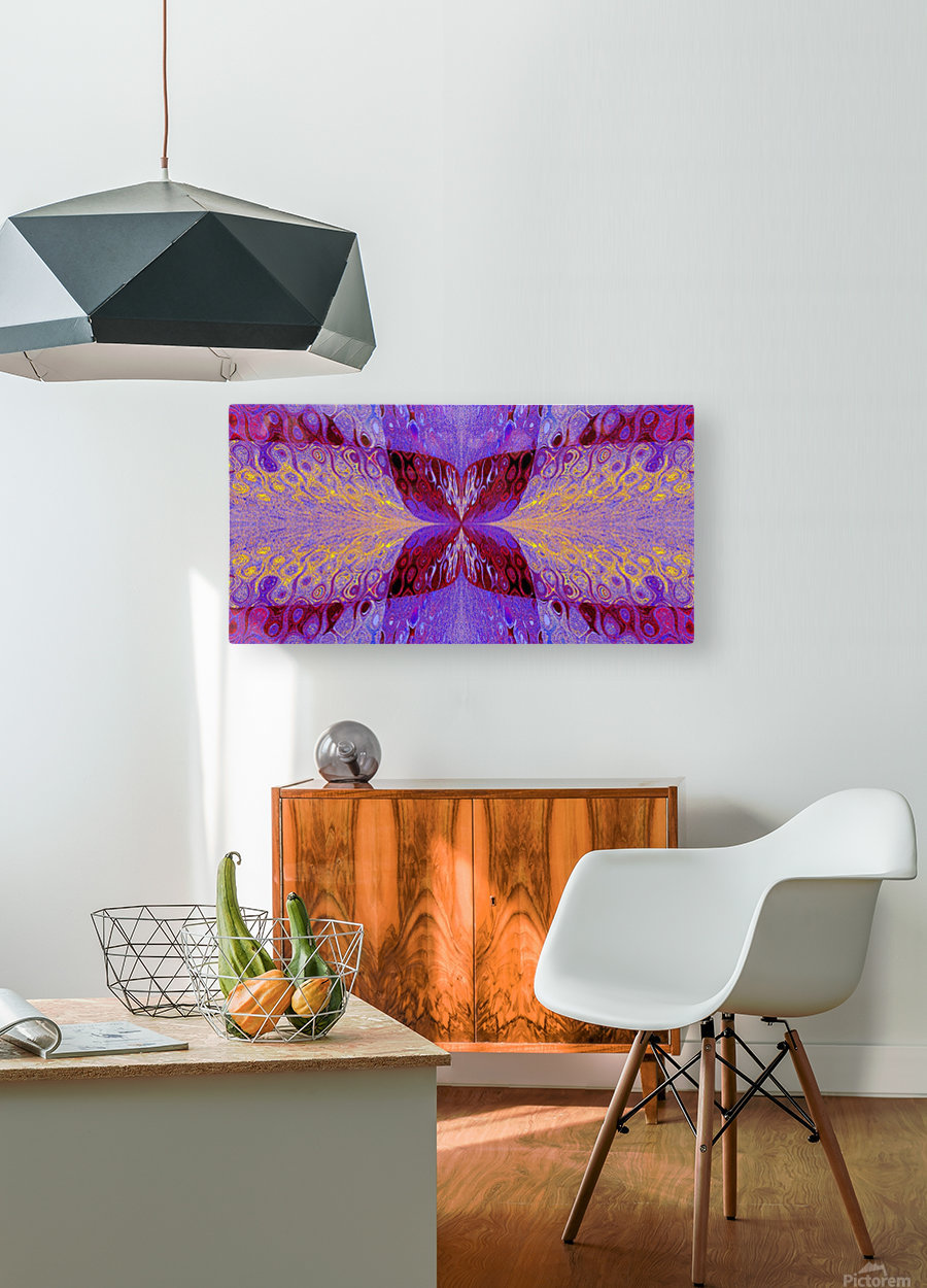 Butterfly in Crystal 46  HD Metal print with Floating Frame on Back