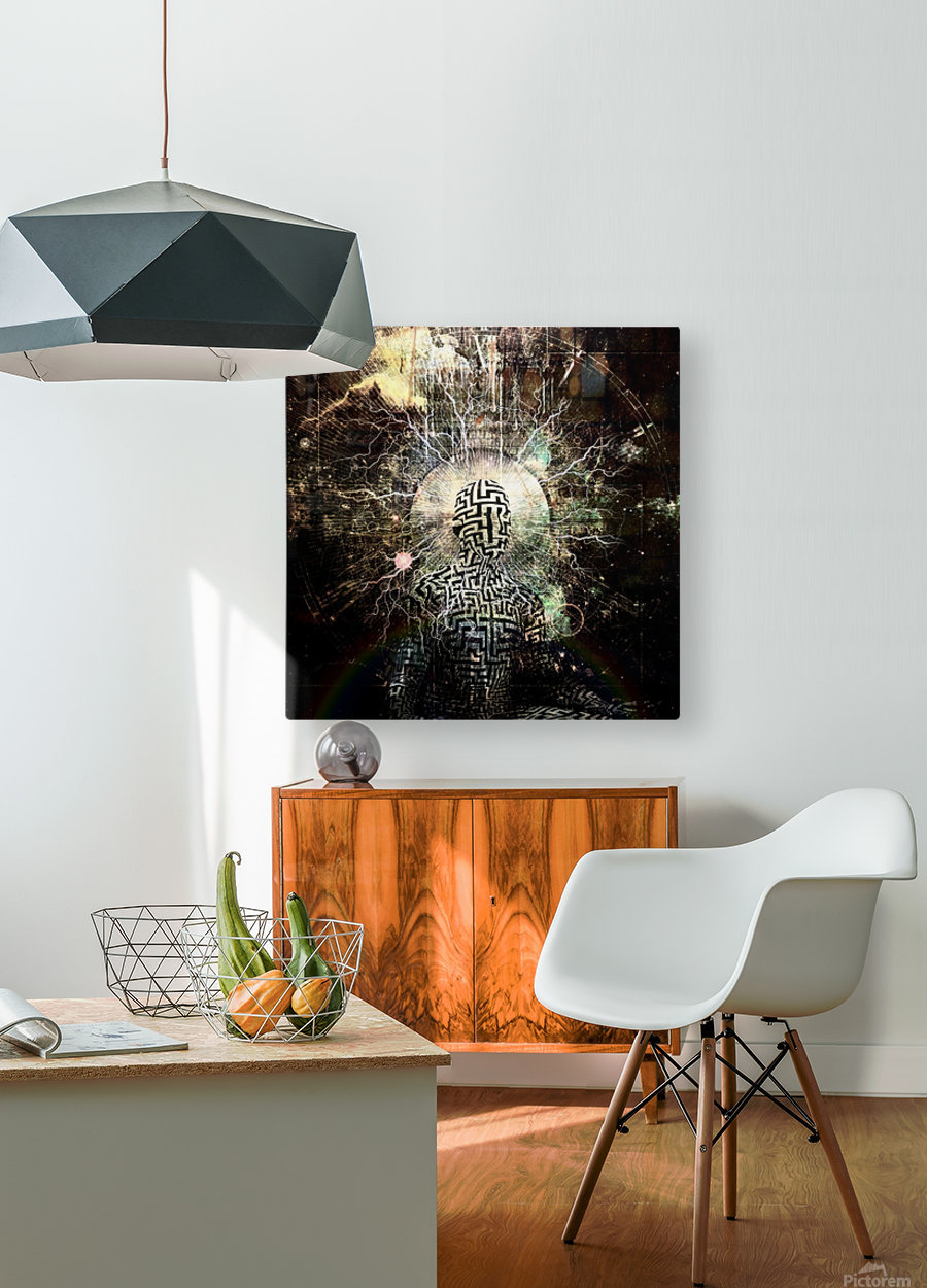 Zen Power  HD Metal print with Floating Frame on Back