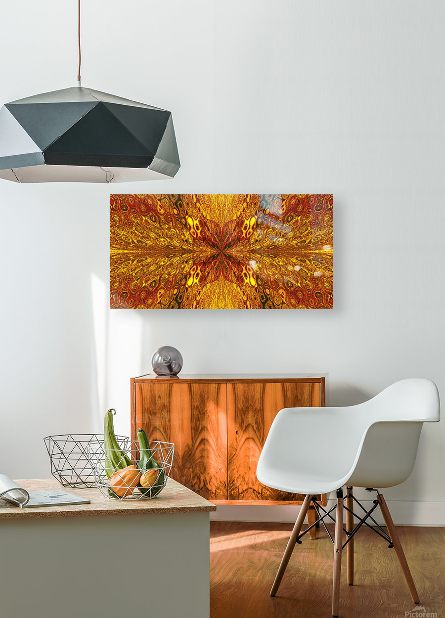 Butterfly in Crystal 59  HD Metal print with Floating Frame on Back