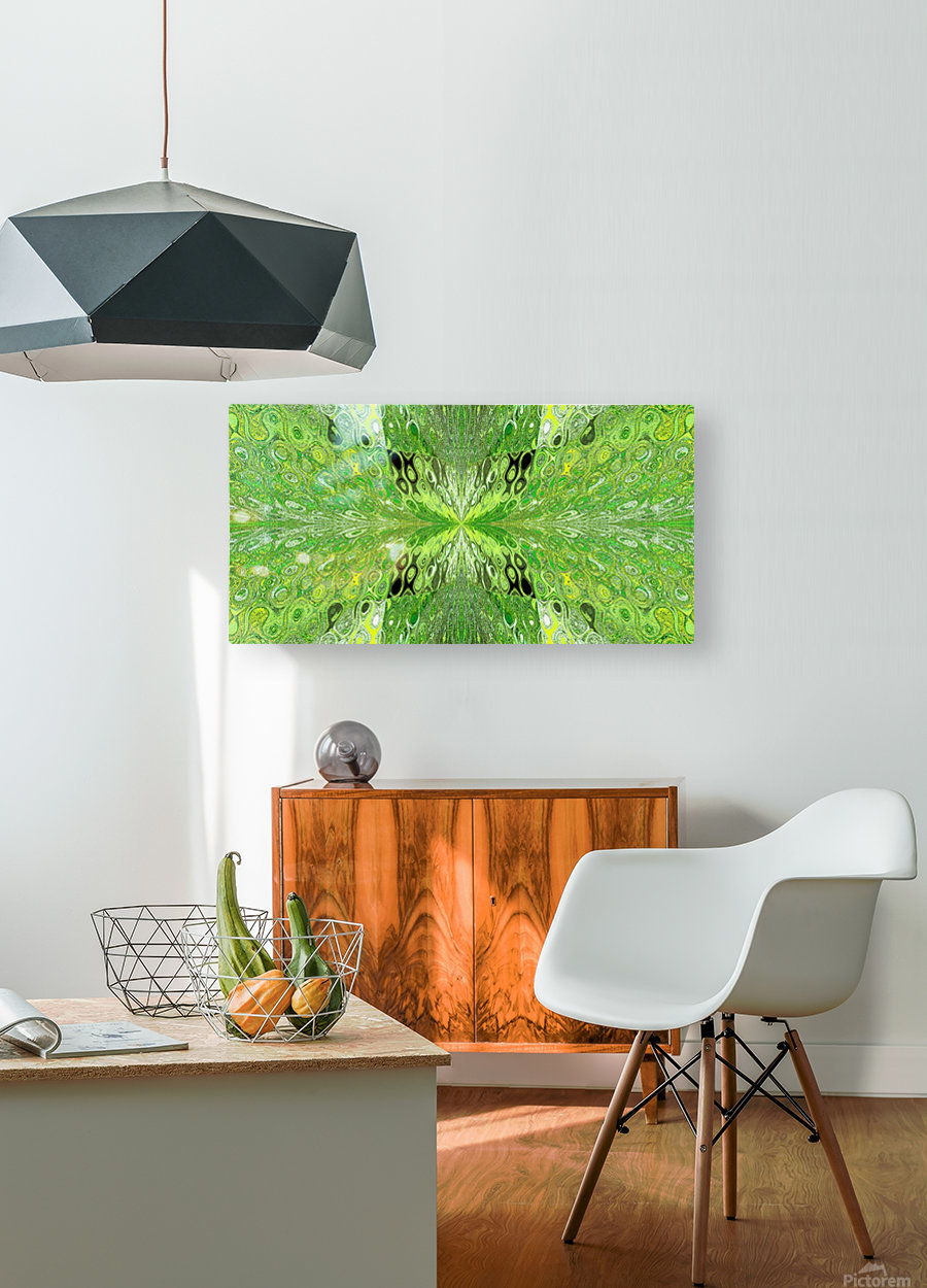 Butterfly in Crystal 70  HD Metal print with Floating Frame on Back