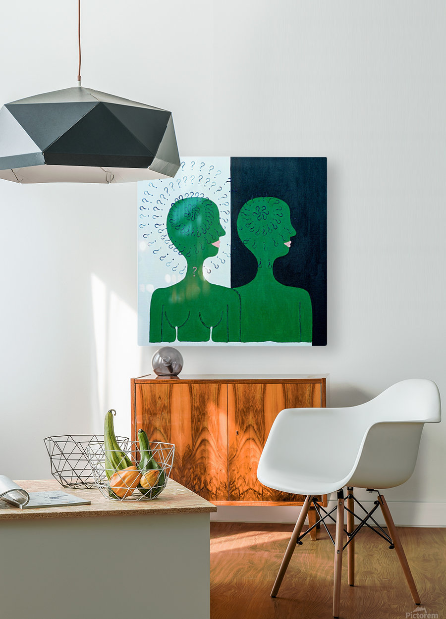 Humans  HD Metal print with Floating Frame on Back