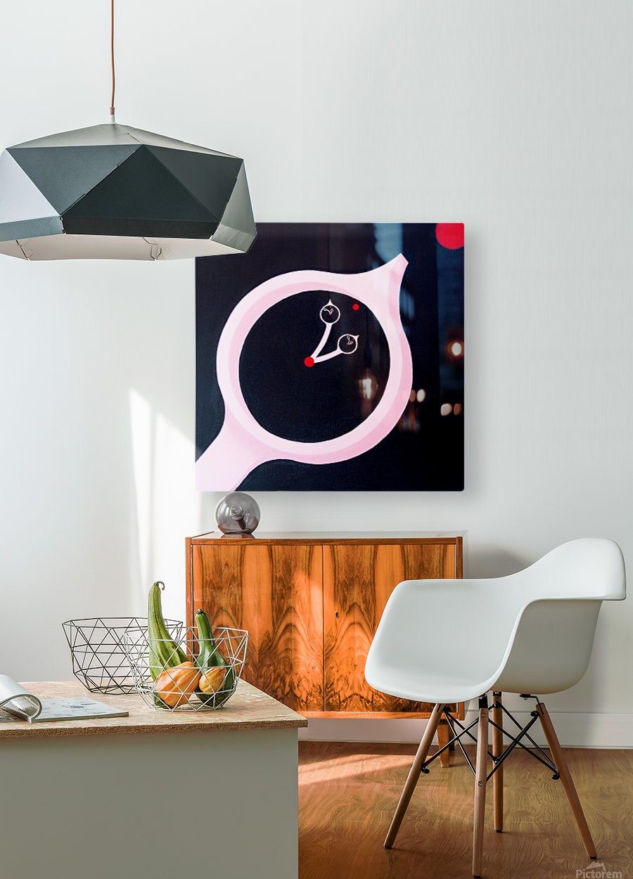 time and motion  HD Metal print with Floating Frame on Back