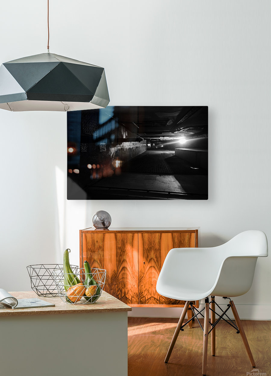 Dark alley  HD Metal print with Floating Frame on Back