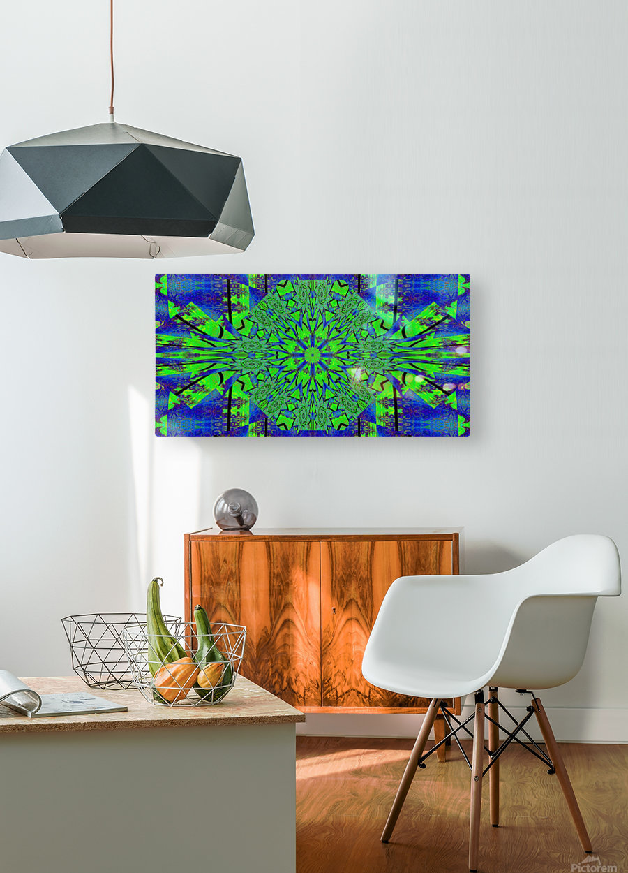 Dahlia in Green  HD Metal print with Floating Frame on Back