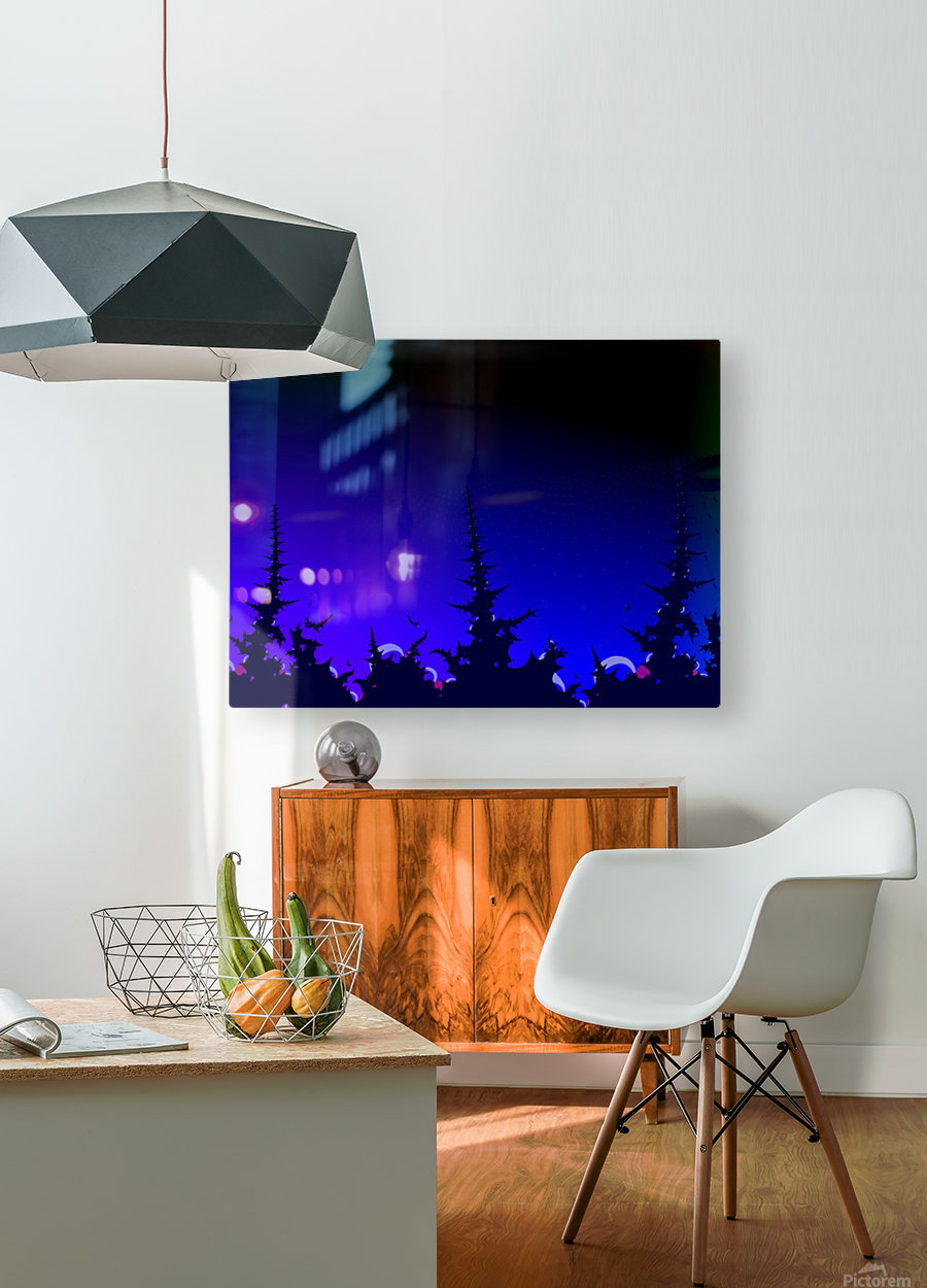 Noche_Azul  HD Metal print with Floating Frame on Back