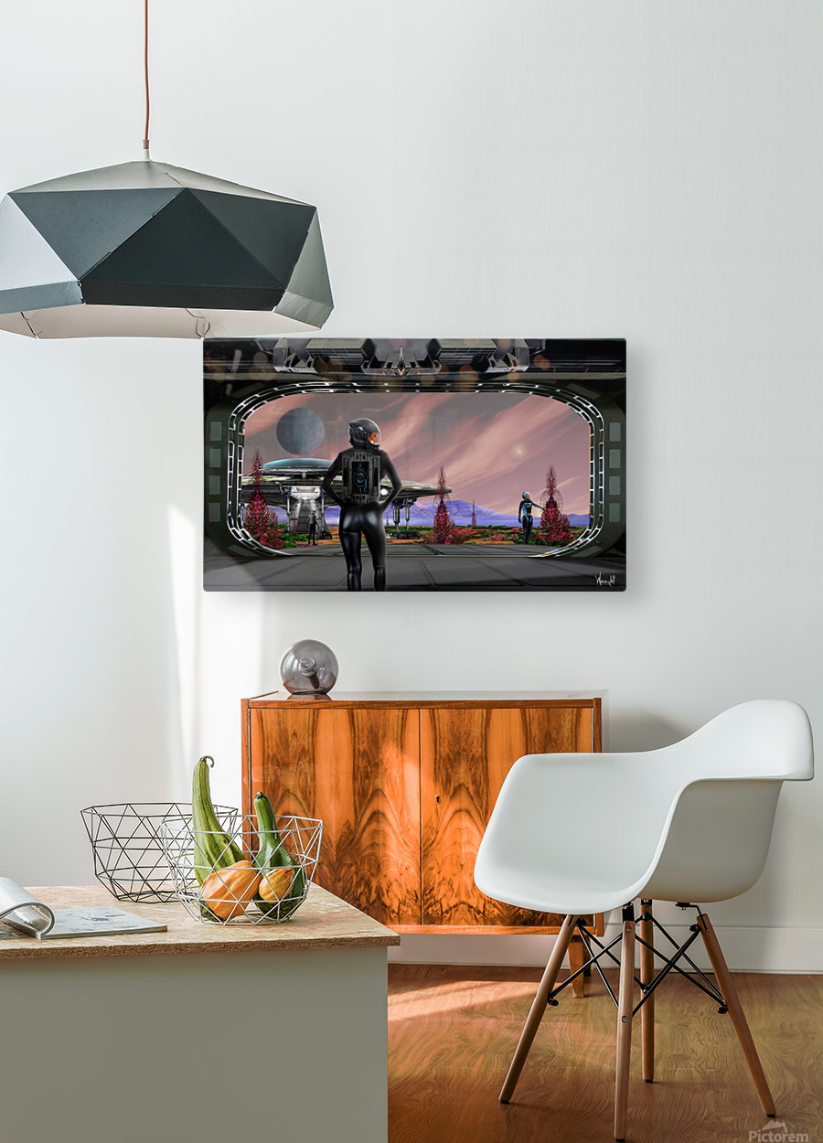 Proxima B  HD Metal print with Floating Frame on Back