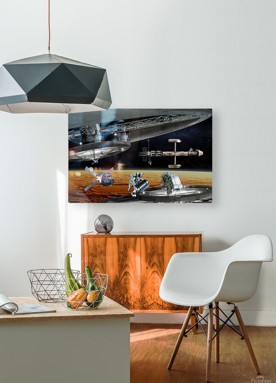 Mars Project 4  HD Metal print with Floating Frame on Back