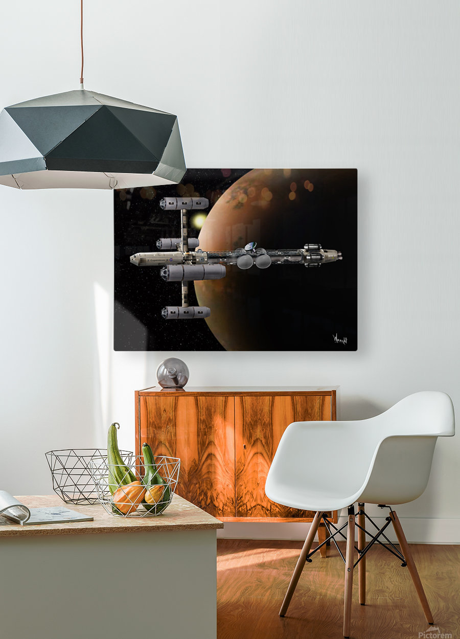 Copernicus in Mars Orbit  HD Metal print with Floating Frame on Back