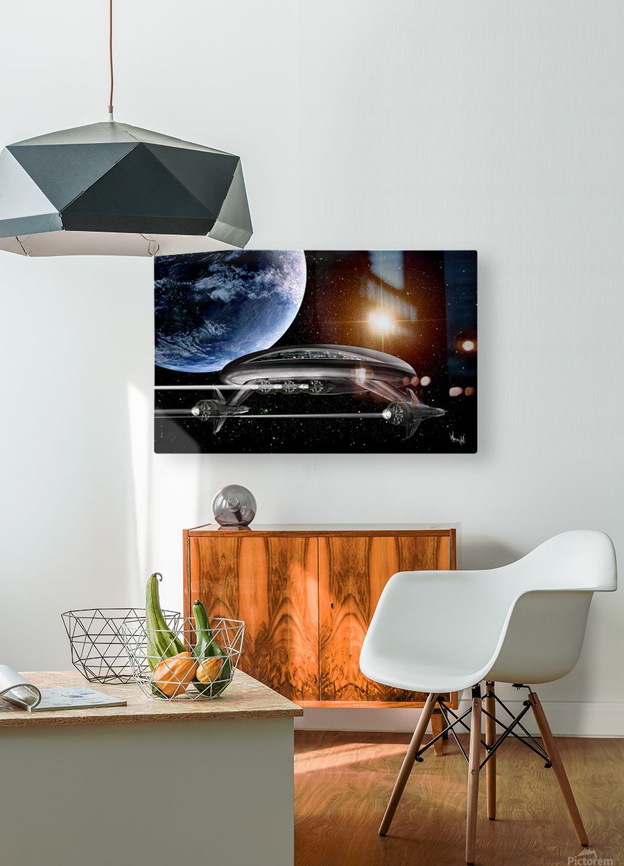 LIghtship Solaria  HD Metal print with Floating Frame on Back