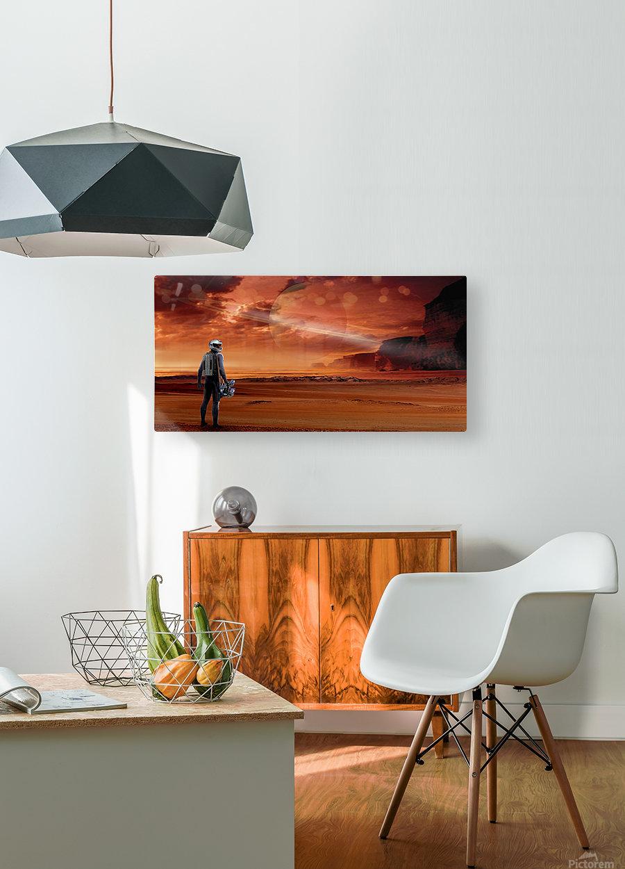 TItan Explorer  HD Metal print with Floating Frame on Back