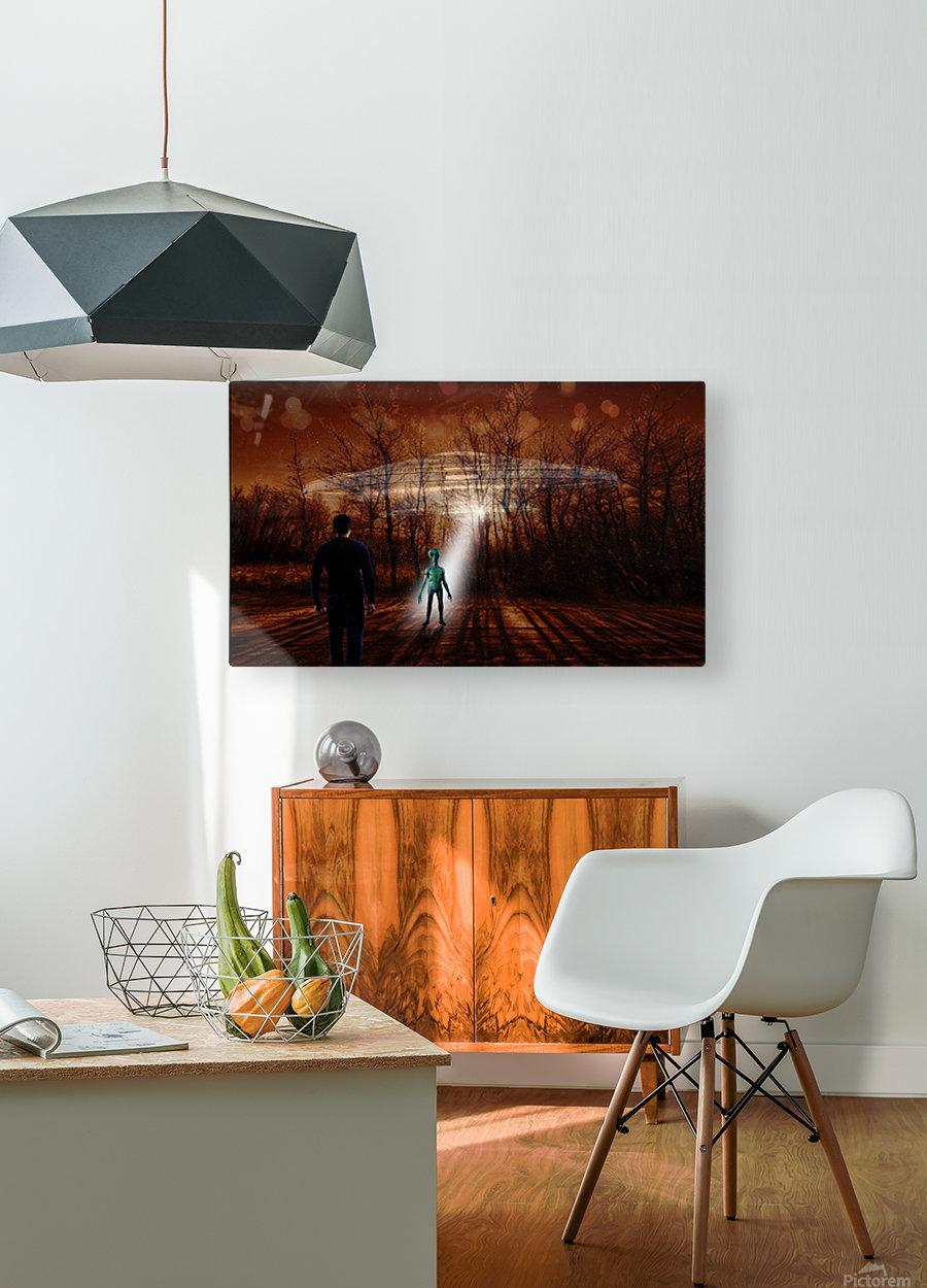Dark Encounter  HD Metal print with Floating Frame on Back