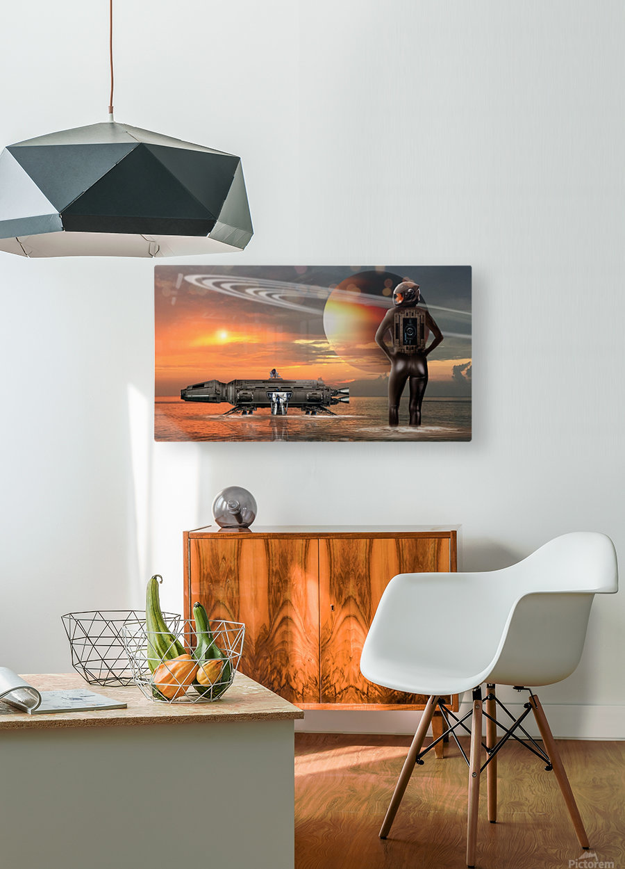 Waterworld  HD Metal print with Floating Frame on Back
