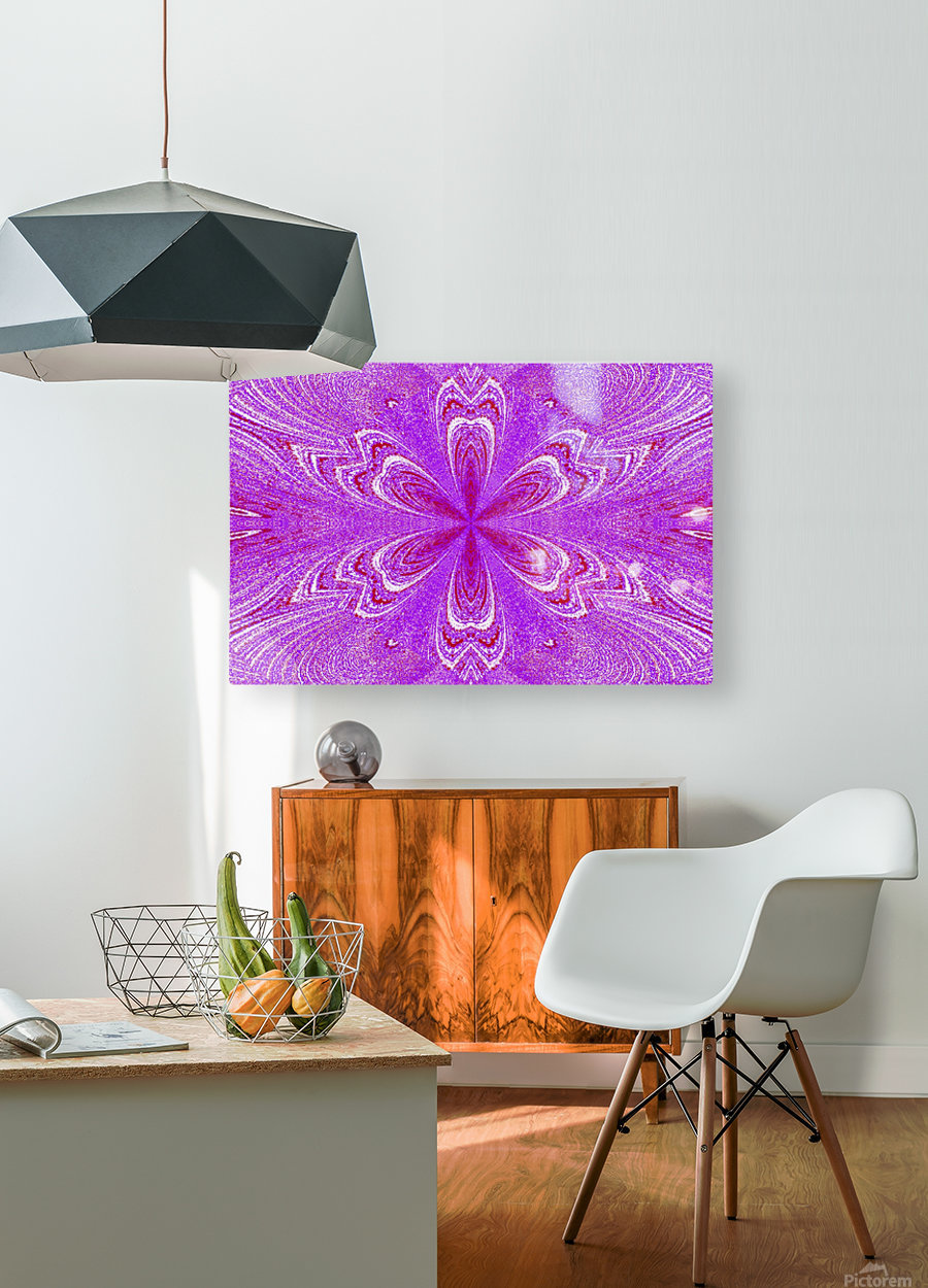 Red Pink Star Flower  HD Metal print with Floating Frame on Back