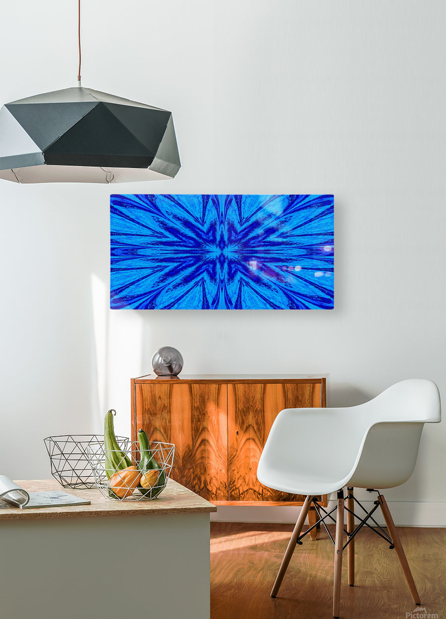 A Blue Wildflower 4  HD Metal print with Floating Frame on Back