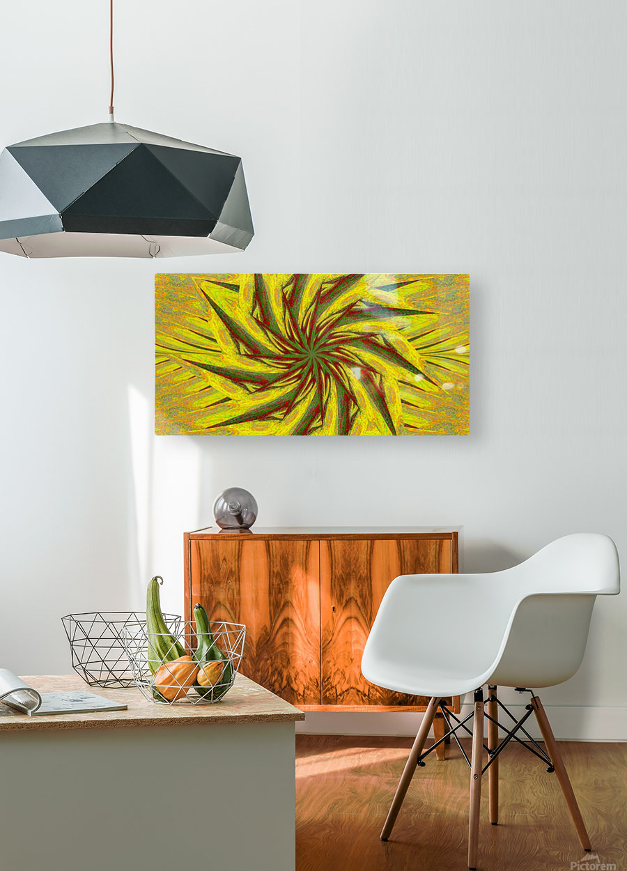 A Flower in the Wind 1  HD Metal print with Floating Frame on Back