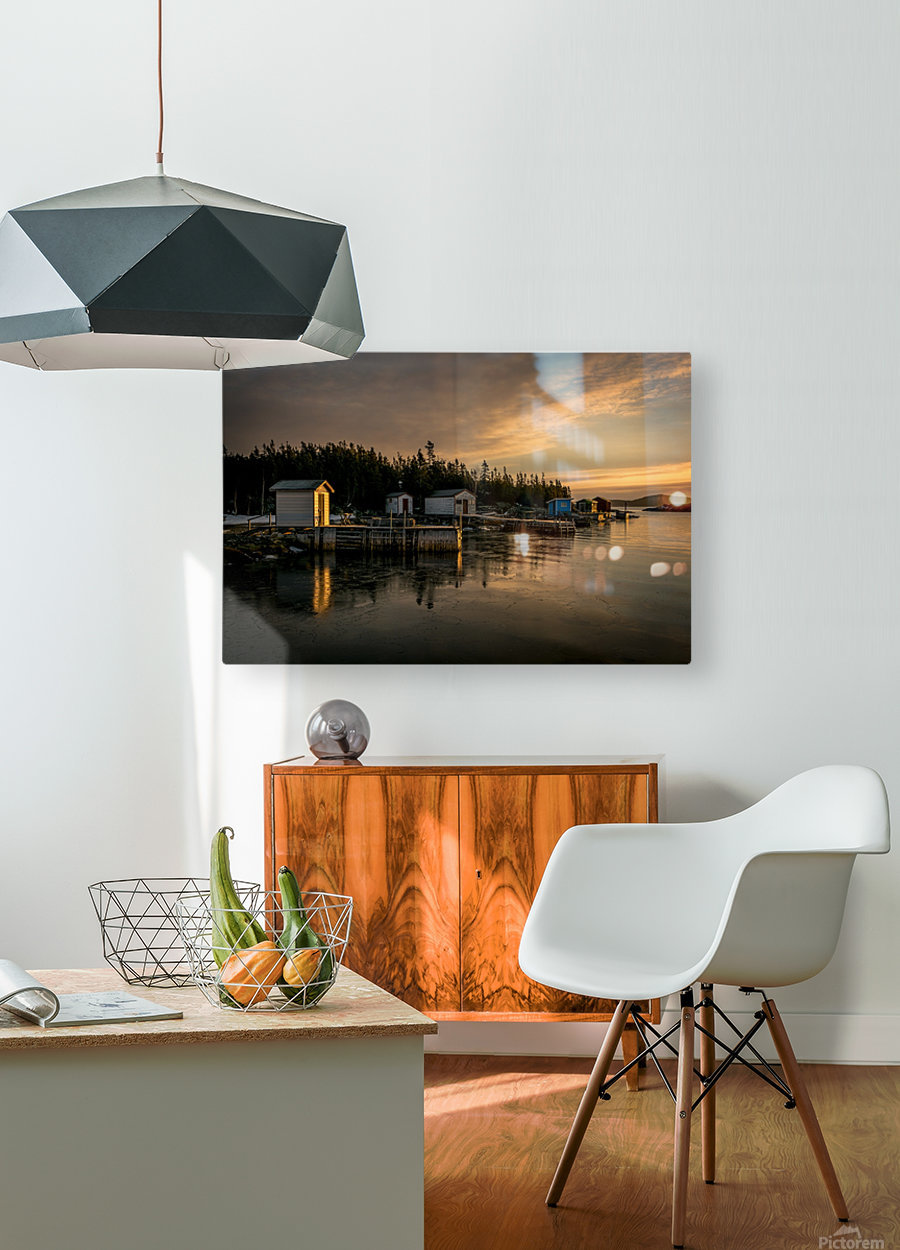Little Burnt Bay  HD Metal print with Floating Frame on Back