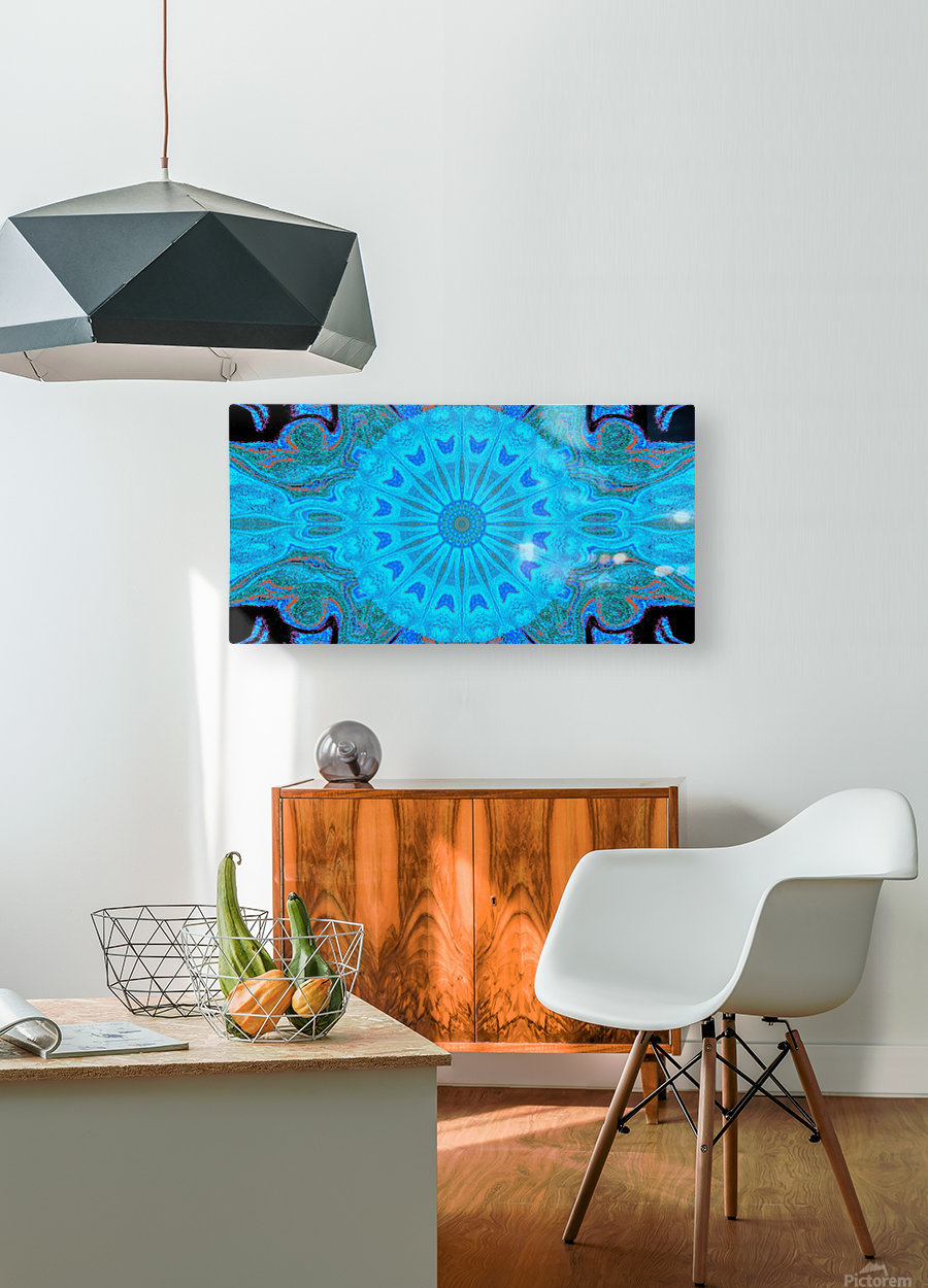 Blue Wildflower in Light  HD Metal print with Floating Frame on Back