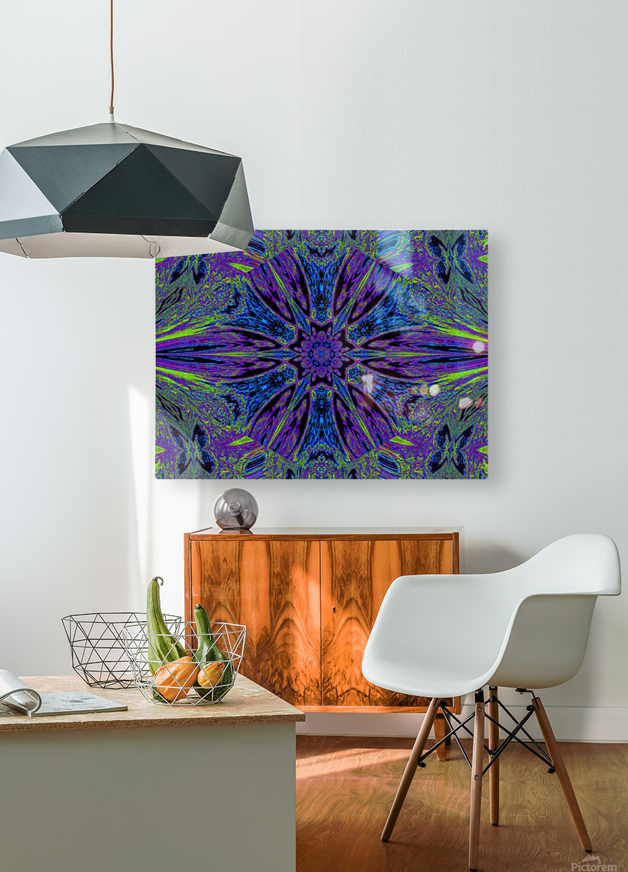Butterfly Flight Flower  HD Metal print with Floating Frame on Back