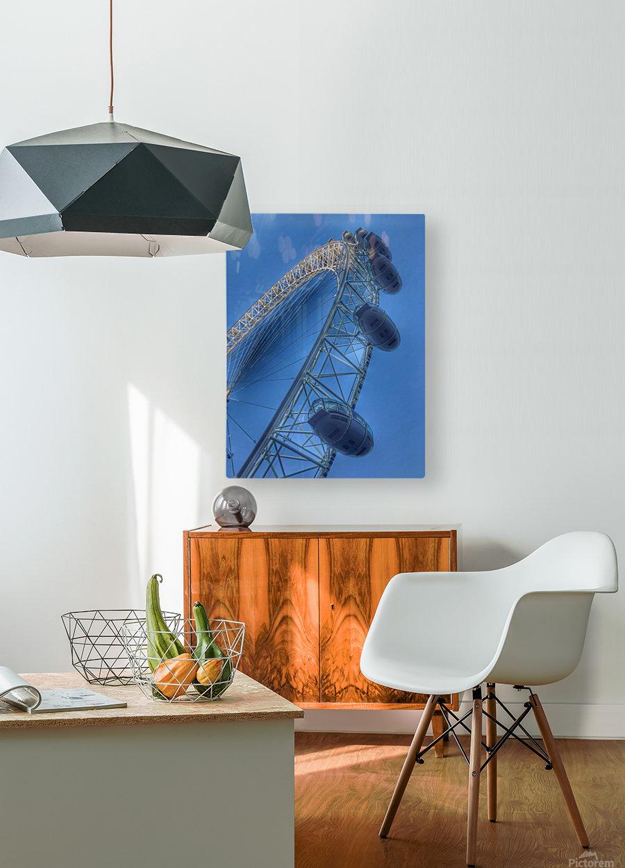 London Eye  HD Metal print with Floating Frame on Back