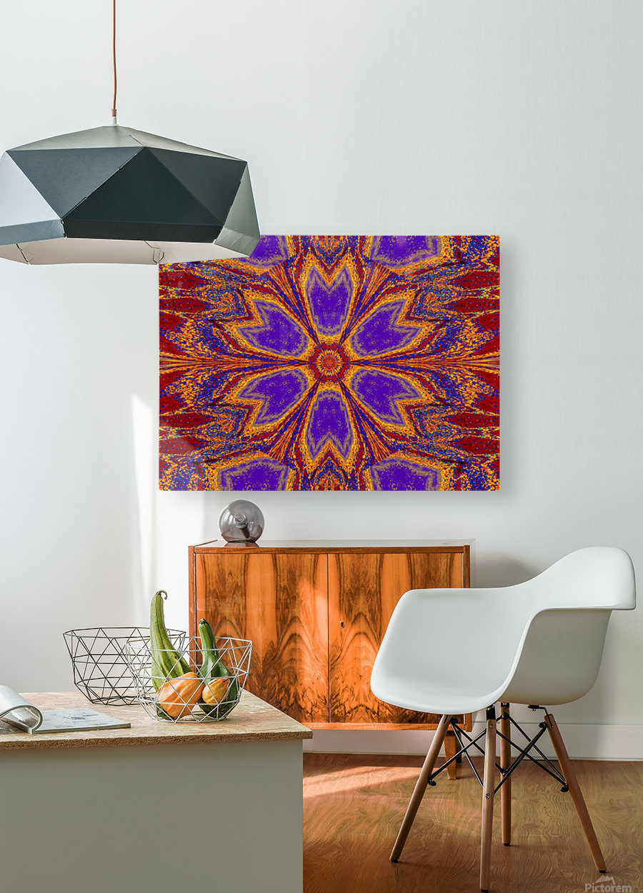 Orange and Blue Dawn  HD Metal print with Floating Frame on Back