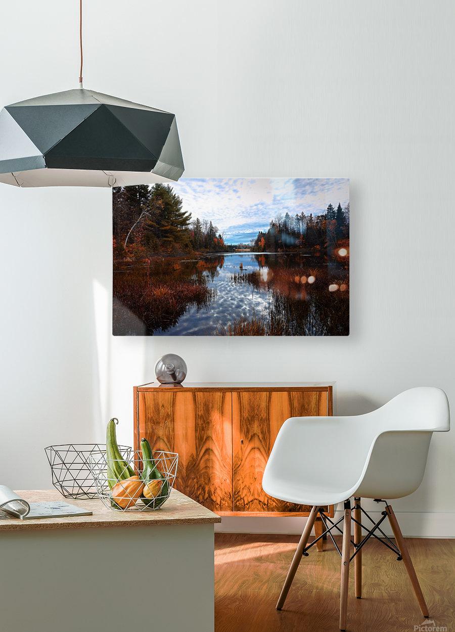 Reflet  Impression métal HD avec cadre flottant sur le dos
