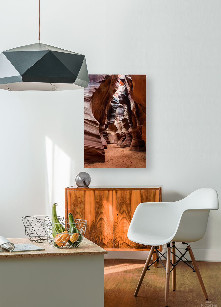 Upper Antelope Canyon 1  HD Metal print with Floating Frame on Back