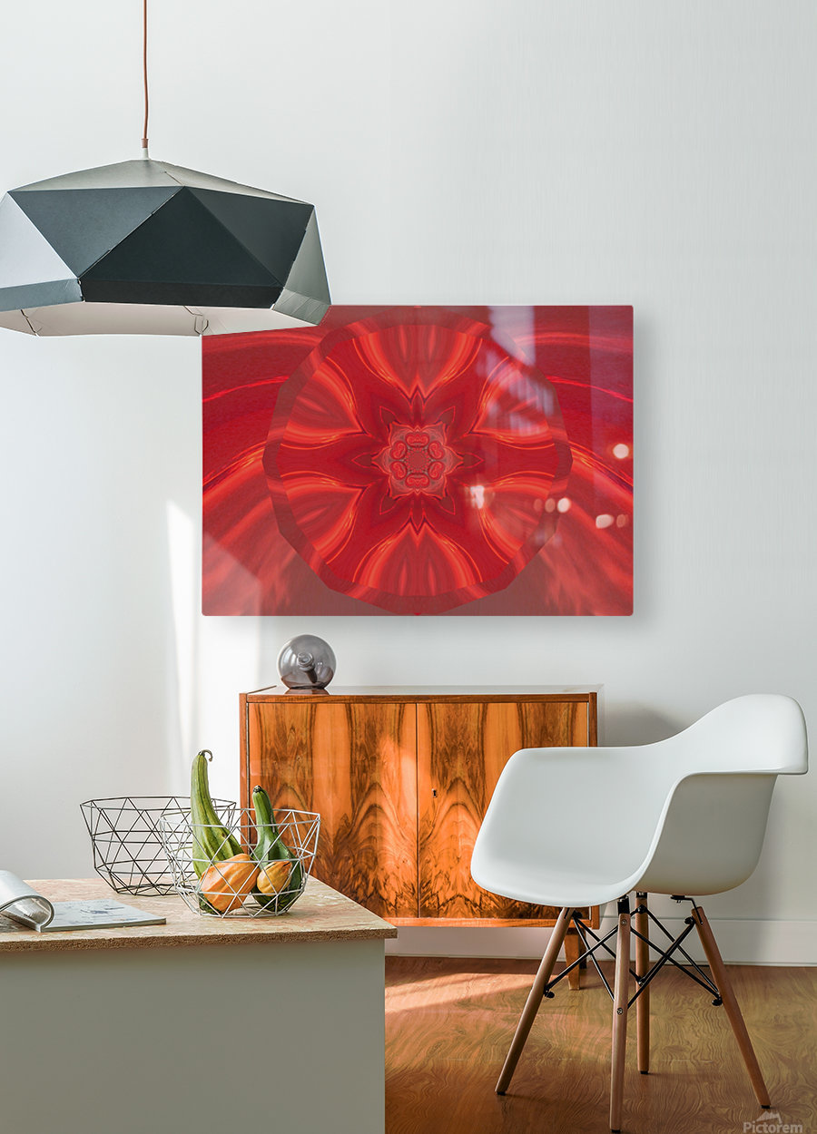 Phoenix Flower 2  HD Metal print with Floating Frame on Back