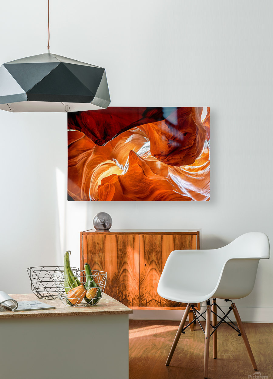 Upper Antelope Canyon 8  HD Metal print with Floating Frame on Back