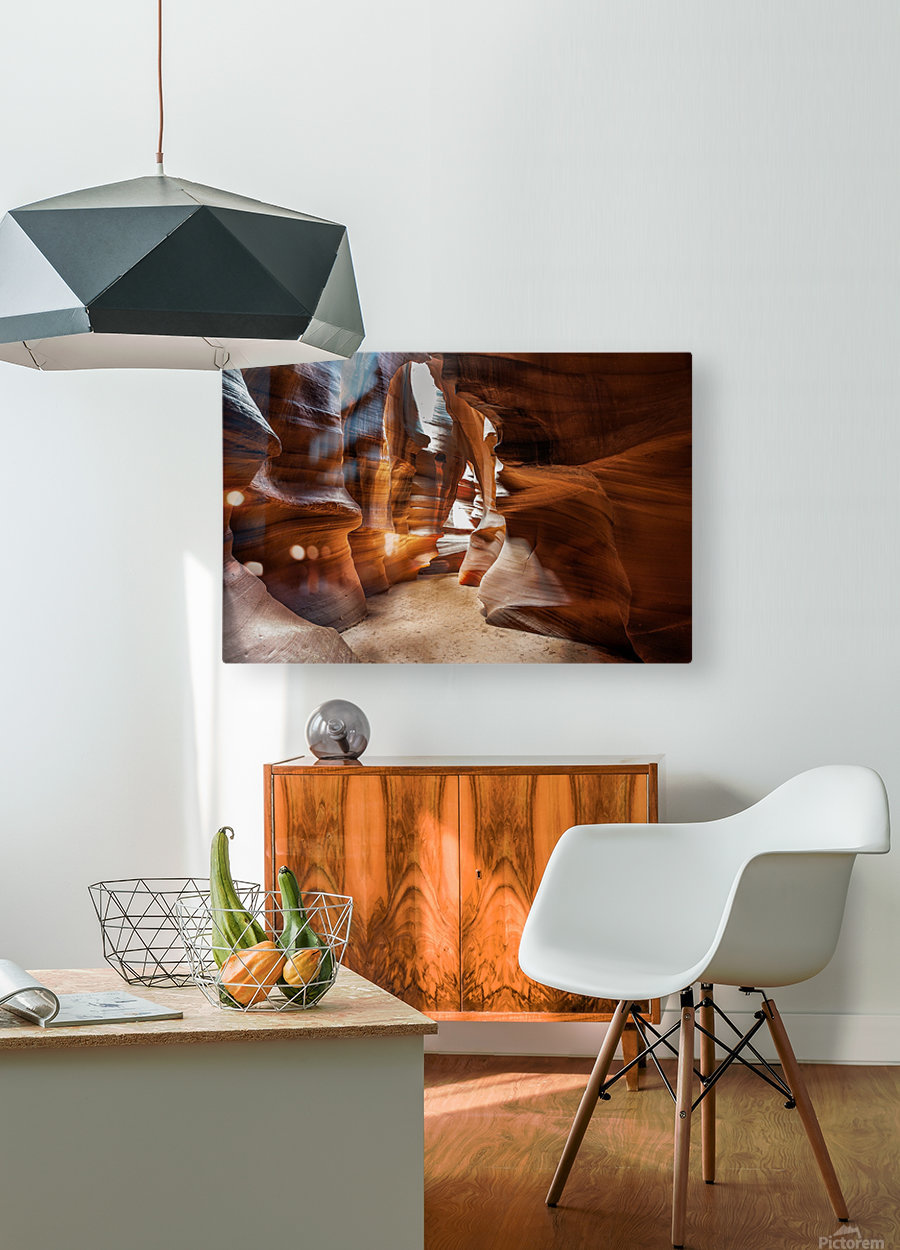 Upper Antelope Canyon 9  HD Metal print with Floating Frame on Back