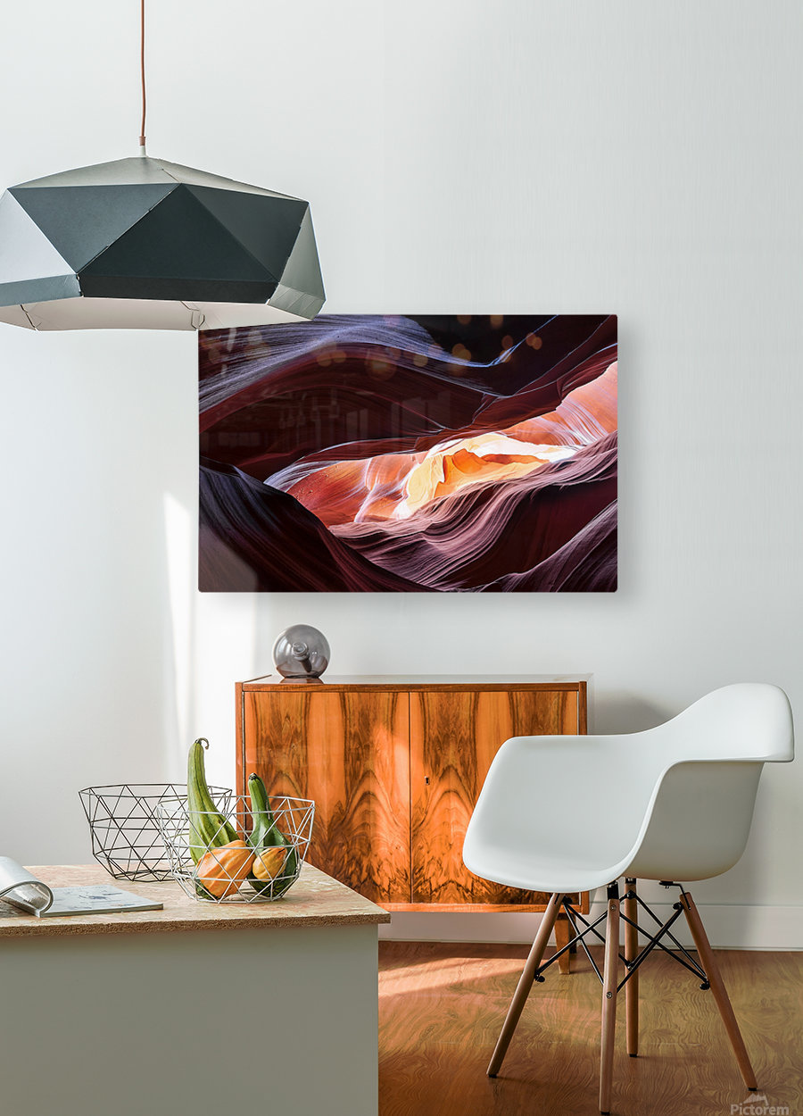 Upper Antelope Canyon 13  HD Metal print with Floating Frame on Back