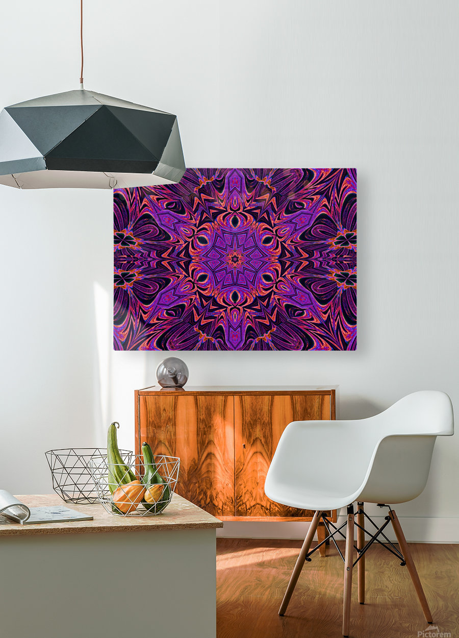 Purple Sunshine Wildflower  HD Metal print with Floating Frame on Back