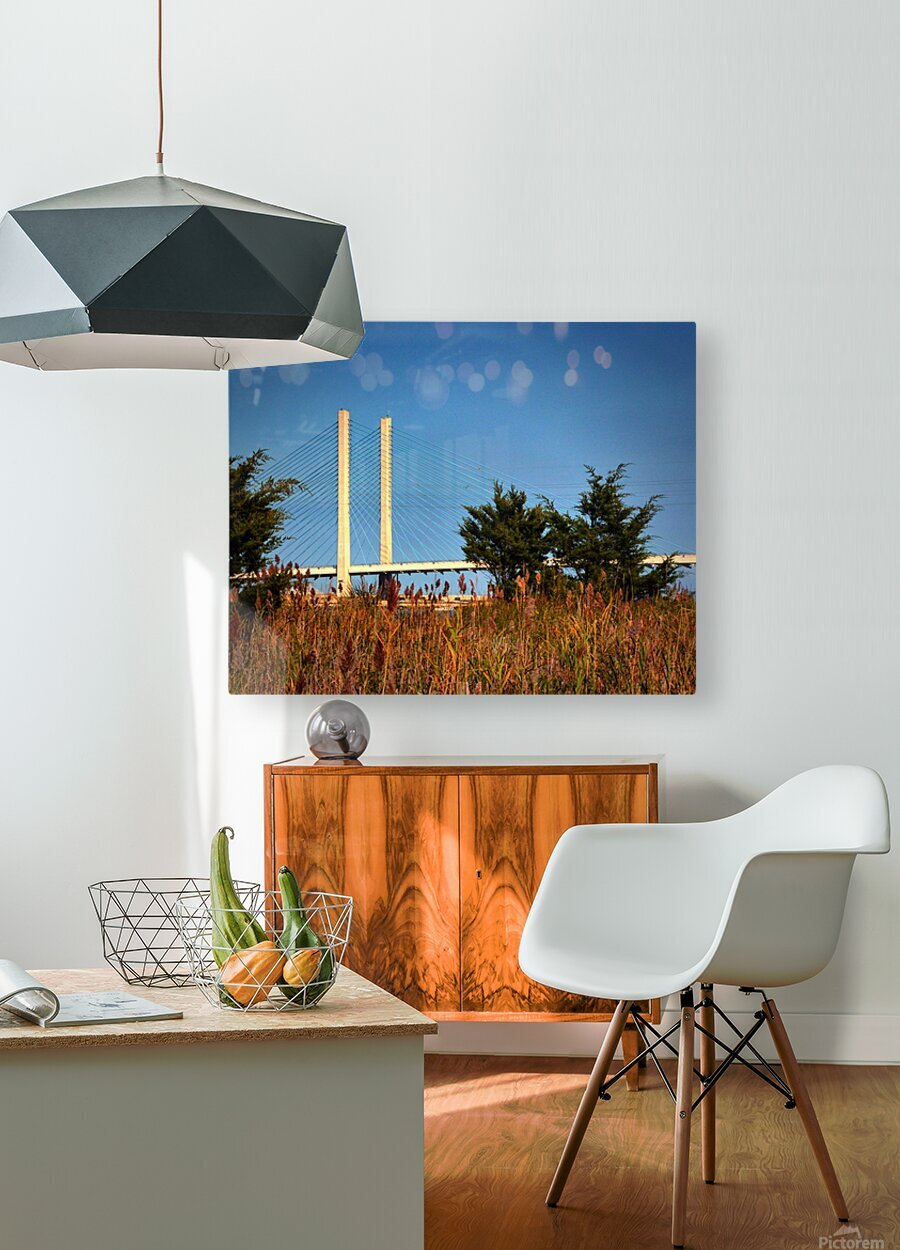 Indian River Bridge Stanchions Standing Tall  HD Metal print with Floating Frame on Back