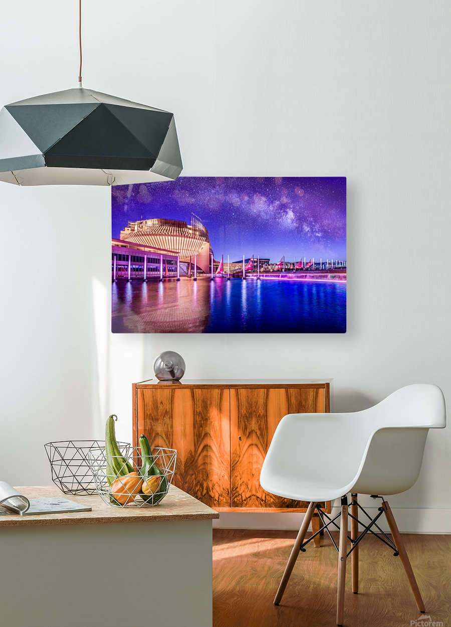 Casino Milky Way  HD Metal print with Floating Frame on Back