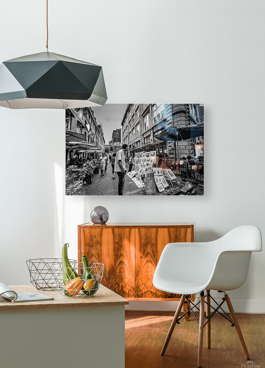Old Port Of Montreal  HD Metal print with Floating Frame on Back